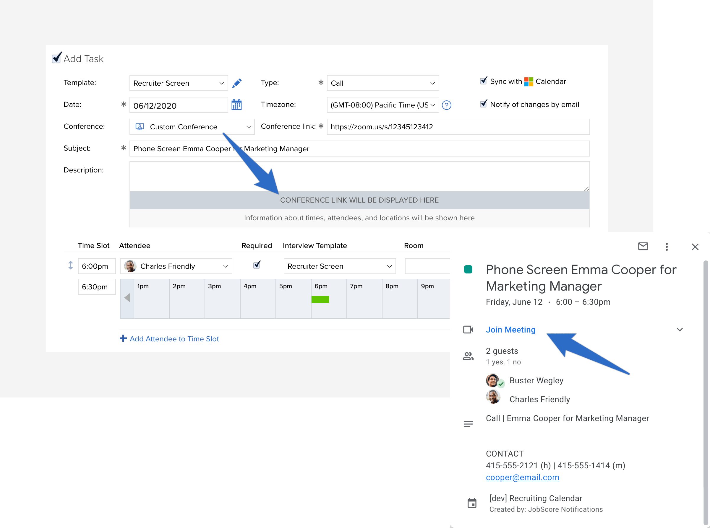 conference custom link on google calendar
